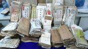 商人家 蔵出し大正 昭和初期 戦前 昭和30年代頃まで エンタイア 手紙 郵便物 資料 納品書 証書 等 大量 まとめて エンタイヤ 古切手 葉書
