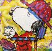 トム・エバハート 大型版画 スヌーピー 3時のティータイム