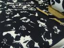 春ピュアコットンオリジナルアレンジフラワープリント中間やや滑モノトーン長4m巾110cm JKワンピース スカート パッチワーク手芸