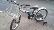 子供用自転車 Jeep サイズ18 補助輪付き モスグリーン z954