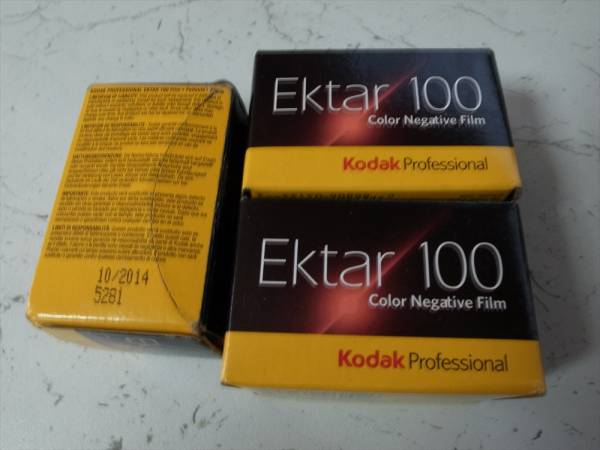 Kodak Extar 100 使用期限切れ 135-36 3本