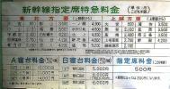 ☆彡上野駅窓口用料金表〜消費税導入前〜≪A寝台料金等≫