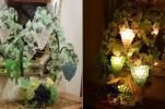 ベネチアンムラノガラス【TOSO CESARE】4灯葡萄籠ス