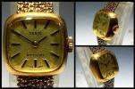 ティソ TISSOT STYLIST GOLD 手巻式 K14 金無垢 585刻印 腕時計