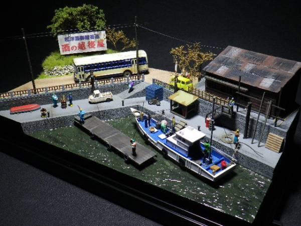1/150ジオラマ『昭和の風景』昭和43年新春 漁港を行くバス