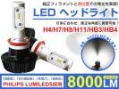 1円~ 最新 Philips LEDヘッドライト H4/H7/H8/H11/H16HB3/HB4 タイプ選択可能 ホワイト 6000K-6500K 8000LM DC 12V専用 1年保証YA