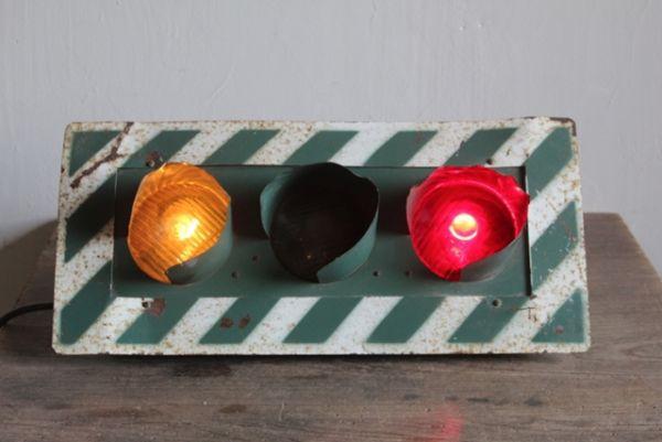 レア 3灯式信号機◆珍品/ヴィンテージ/ライト/看板/工業系