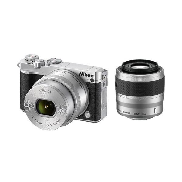 (未開封新品)Nikon1 J5 ダブルズームレンズキット シルバー(最落なし!)