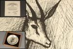 美術品 ベルナール・ビュッフェ 銀製飾皿 限定品 保証書付 7240 iE