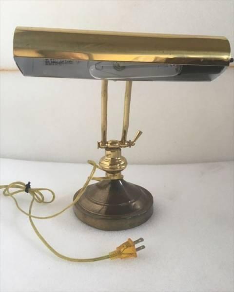 ◆電気スタンド◆レトロ アンティーク調 外国製 ランプ 小