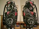 USED アダバット adabat 合皮 黒赤シルバー 3点式バッグ
