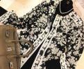 2点落札で送料無料!LEONARD☆彡最愛モノトーンで魅せる美し柄!極上シルクロングジャケット