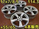 PW48♪ホイールのみ♪4本価格♪ホンダ S2000 純正 タイプS♪17×7/8.5・+55/65♪グレードアップ・車検用・スペア用等に♪
