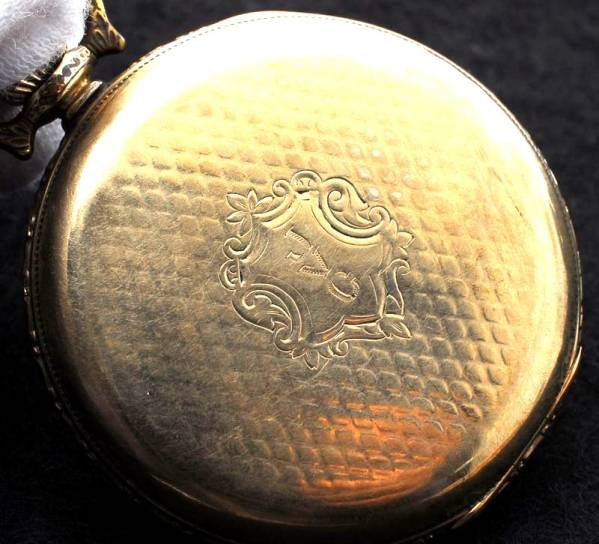 エルジン 八角文字盤 アールデコ 金張 懐中時計 1923年 美品_画像2