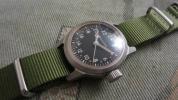 朝鮮戦争ブローバ軍用時計24時間文字盤A-17、オールオリジナル!