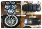 BMW 5シリーズ(E39) 純正225/55/16 タイヤホイールとスタッドレスタイヤ(ブリザック)