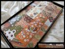 逸品□正絹□名門河合美術織物□鶯色地切り嵌め細工袋帯□