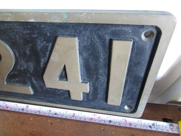 蒸気機関車 ナンバープレート D51 241 国鉄 砲金 銘板 デゴイチ_画像3