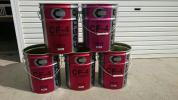 空きペール缶 同じデザインの20缶を5本セットにて バケツ植