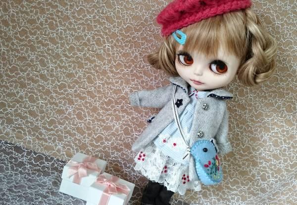 RIKORIKO ◆ Blythe outfit  青い鳥バッグと おでかけセット ◆