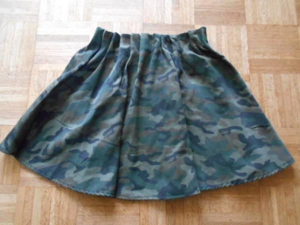 迷彩柄 ミニスカート