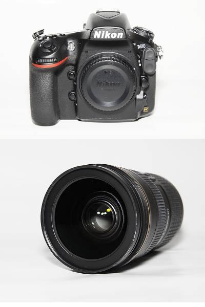 Nikon ニコンD810, AF-S NIKKOR 24-70mm f/2.8G EDセット 美品! 即決送料無料!高画質のポートレート、自然撮影まで幅広い標準ズーム!