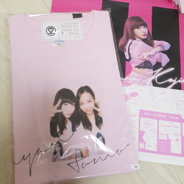 AKB48 小嶋陽菜 22market ピンク 絆Tシャツ M 板野友美 とも
