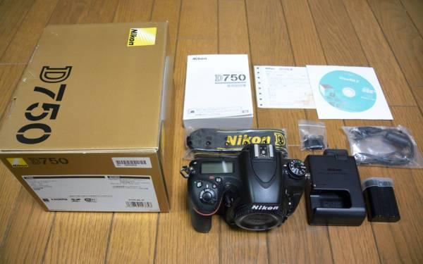 美品 ニコン D750ボディ 元箱・付属品完備