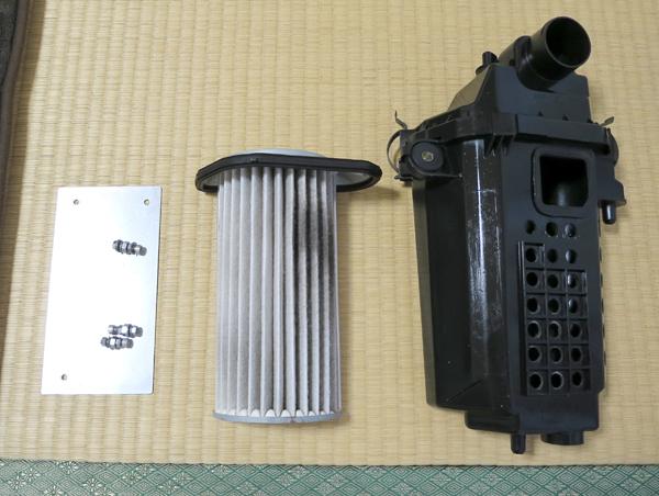 初代コペン L880K 純正エアクリーナーボックス 加工済み