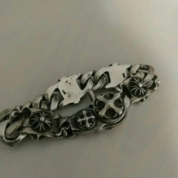 クロムハーツ タイプ シルバー950 ブレスレット 127g!!! 腕回り21cm 幅18mm 刻印あり