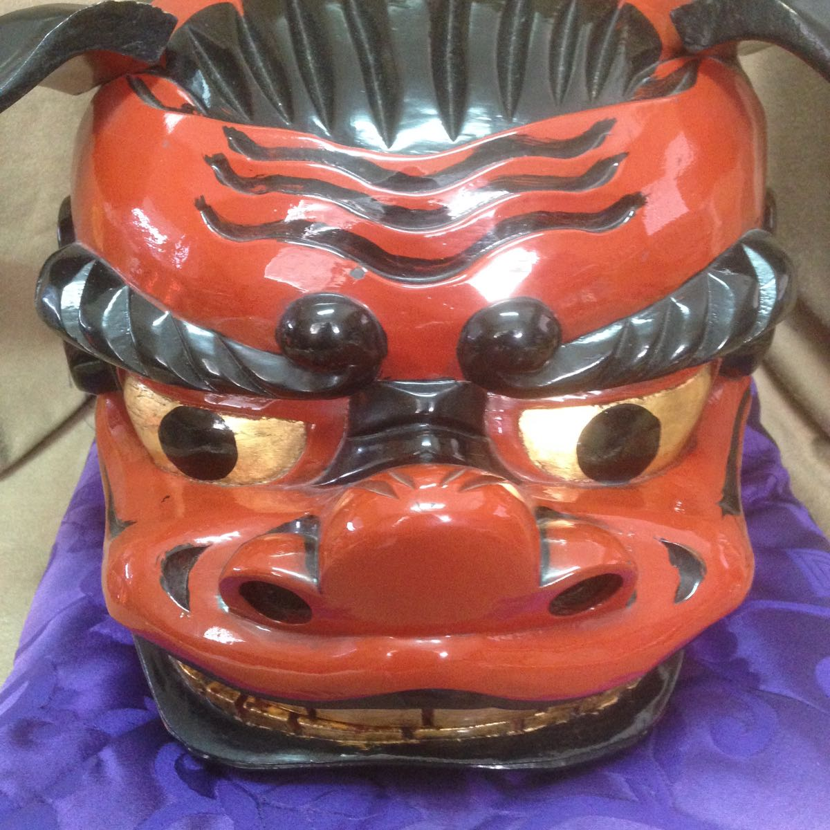 儿童手工制作狮子头面具