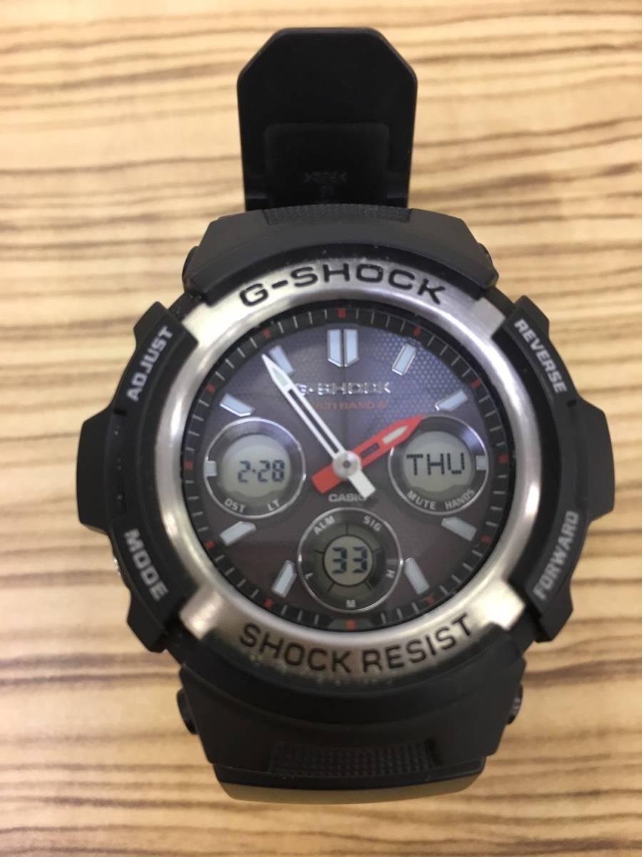 【y449】casio/カシオ g-shock shock resist awg-m100 waterresist