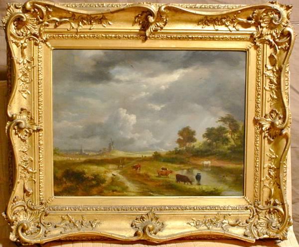 レイナーグル 英国 17世纪 宫廷画家 油彩 风景 真作