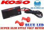 LED電圧計青リモコンジョグZRシグナスXマジェスティ125アプリオ