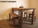 限定アンティーク風ダイニングテーブル1200×800カフェ家具2
