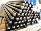 ヌマタ フェンス 柱 720mm スチール製 10本 ブラック