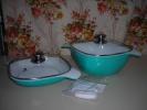 ●蓋付き深型両手鍋&スクウェアグリルパン■24cm■KEVNHAUN