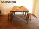 アイアン脚 アンティーク風テーブル1500×800鉄脚什器店舗カフェ