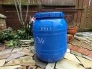 雨水タンク青、最大級210サイズ、メダカ、肥料、農業園芸の水