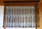 珠のれん すだれ 幅84.5㎝丈60㎝ 昭和レトロ 懐かしい