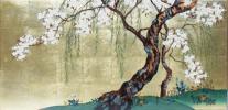 漆絵 酒井抱一の名作「桜図」 絵画制作専門店ユーラシアアート
