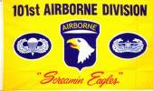 海外限定 国旗 アメリカ陸軍 第101空挺師団 叫ぶ鷲 特大