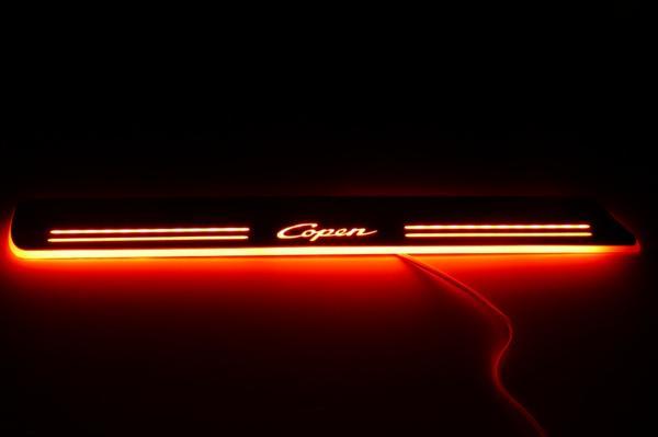 コペン L880K LEDスカッフプレート Copen 赤 レッド 流れる
