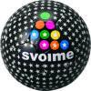 新品即決SVOLMEスボルメ フットサルボール 4号球 黒 163-99429