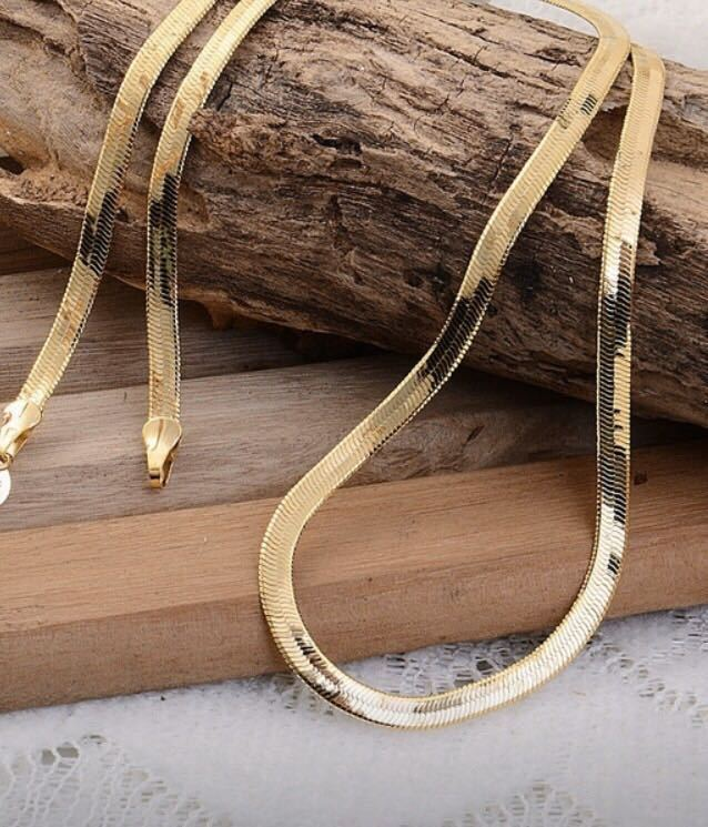 参考価格177,800円 18金 ゴールドネックレス 新品未使用品 薄型 スネークチェーン 18k gpnecklace GOLD メンズ レディース 飾緒 日本軍