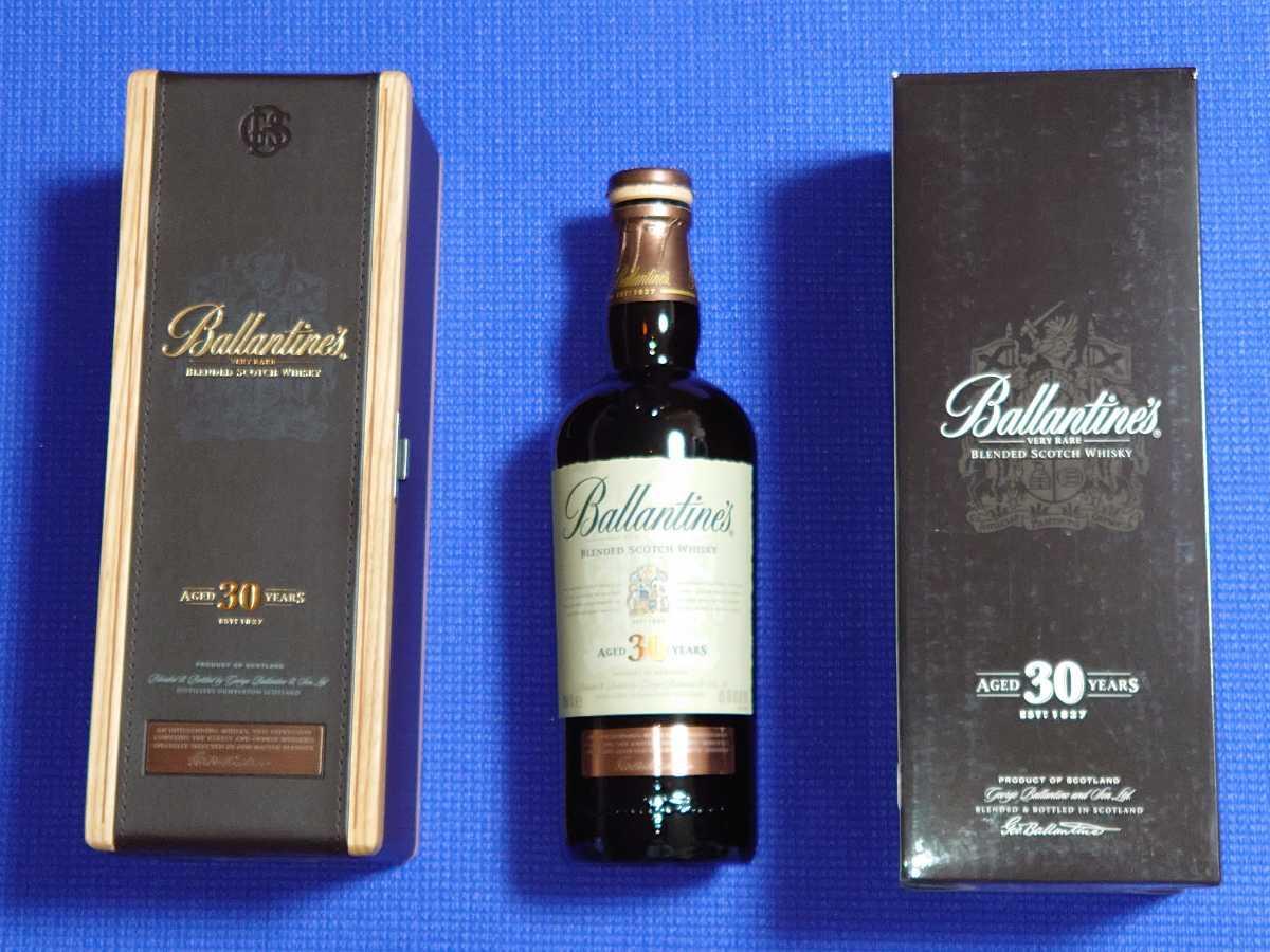 空瓶 木箱 空き箱のみ: バランタイン30年 スコッチウイスキー Ballantine's