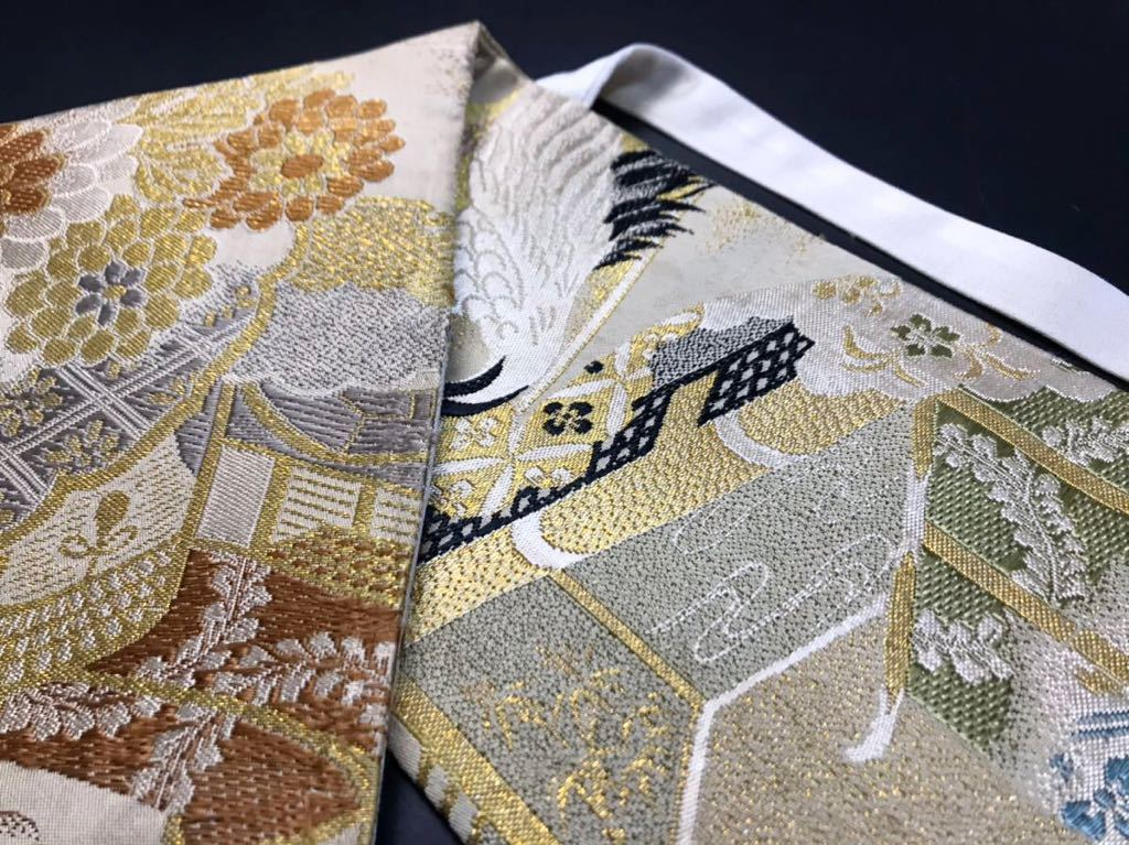 限定2本 日本刀 太刀 刀 刀袋 飛鶴紋 御所車紋 職人ハンドメイド 100%正絹使用 一点物 w-9_画像2