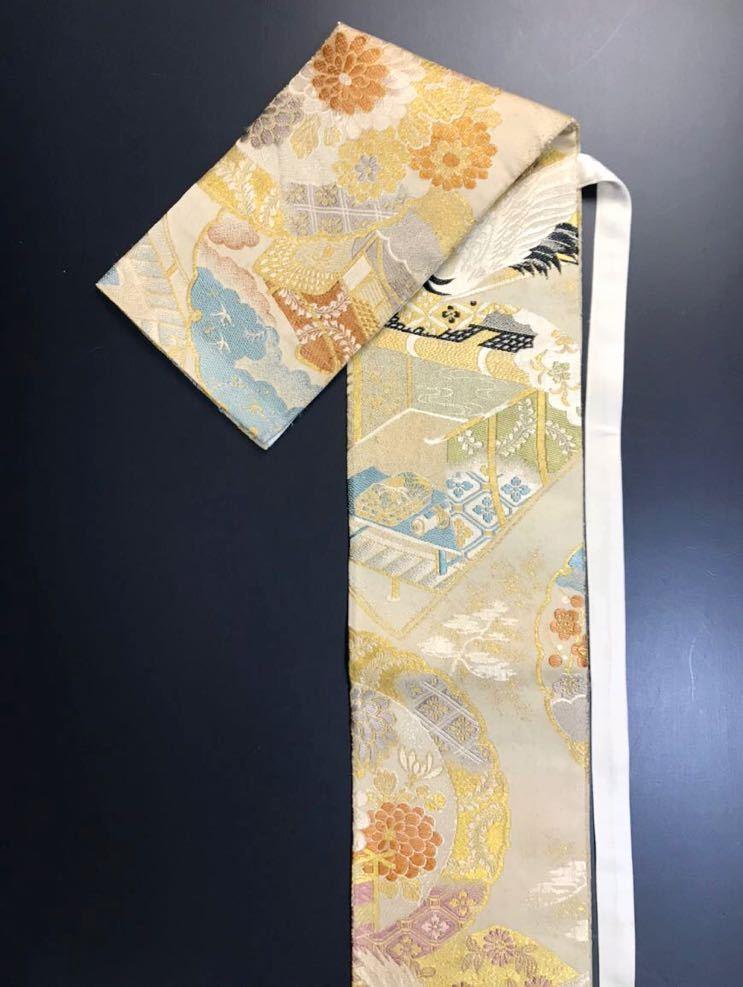 限定2本 日本刀 太刀 刀 刀袋 飛鶴紋 御所車紋 職人ハンドメイド 100%正絹使用 一点物 w-9_画像7