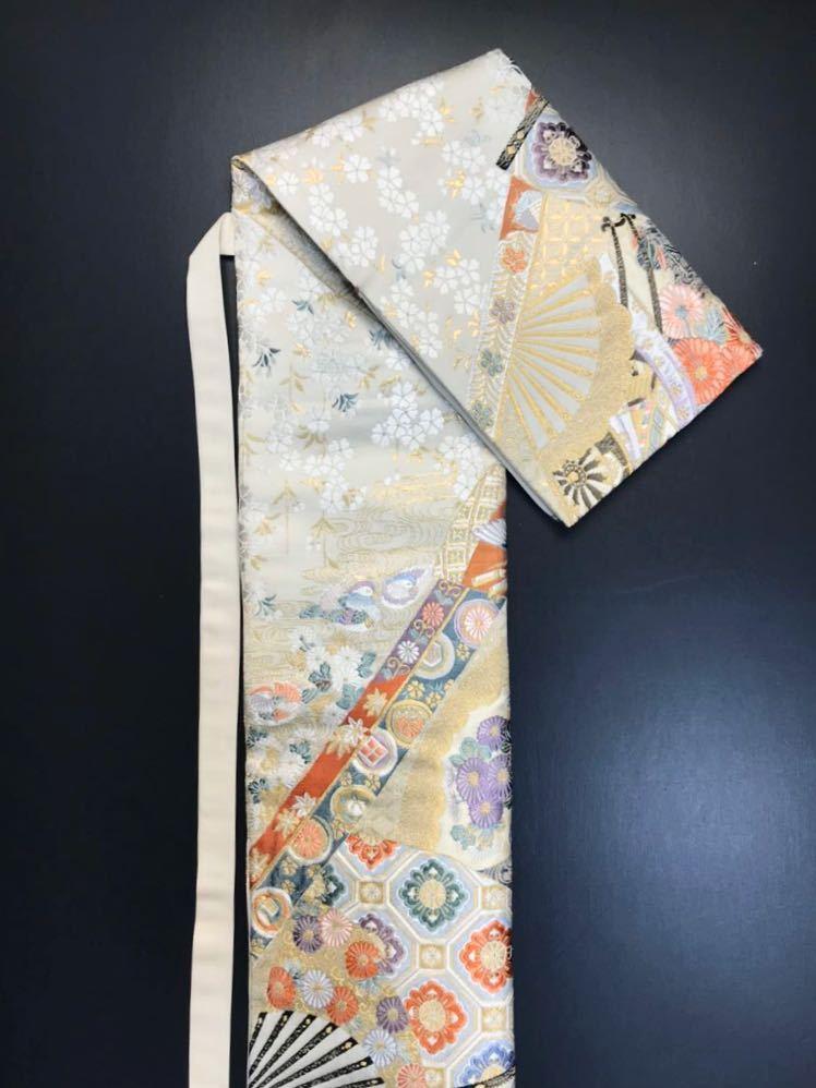 限定2本 日本刀 太刀 刀 刀袋 本金箔 明繍御所 職人ハンドメイド 100% 正絹使用 一点物 w-4_画像7