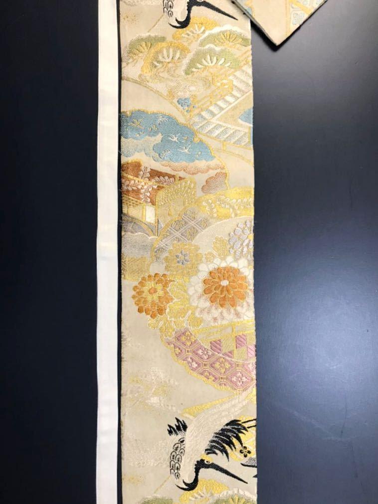 限定2本 日本刀 太刀 刀 刀袋 飛鶴紋 御所車紋 職人ハンドメイド 100%正絹使用 一点物 w-9_画像4